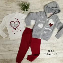 CONJUNTO INFANTIL NIÑA TRES PIEZAS 182103368