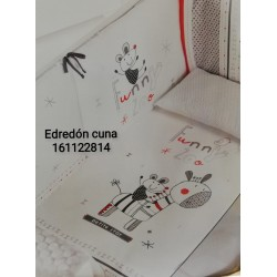 EDREDON Y PROTECTOR CUNA ZEBRA 62X125 161122814