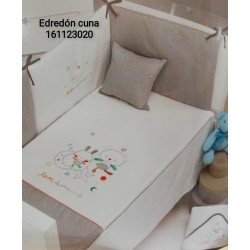 EDREDON Y PROTECTOR CUNA LOVE DREAM 60X125 161123020