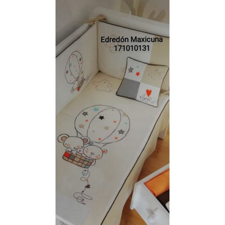 EDREDON Y PROTECTOR MAXICUNA 72X142 GLOBO 171010131