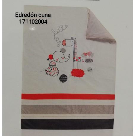 EDREDON Y PROTECTOR CUNA 60X125 HELLO DREAM 171102004