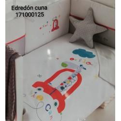 EDREDON Y PROTECTOR CUNA 62X125 BIG CAR 171000125