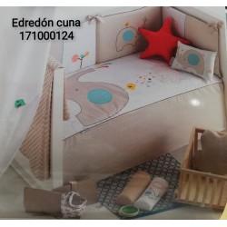 EDREDON Y PROTECTOR CUNA 62X125 ELEFANTE 171000124