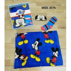 SET REGALO MICKEY MANTA CALCETINES Y ANTIFAZ 191103376