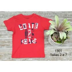 CAMISETA INFANTIL NIÑO 203013010 AMARILLO