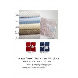 MANTA 110X140 CM DOBLE CARA MICROFIBRA 201105420