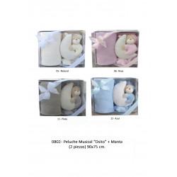 PELUCHE MUSICAL OSITO Y MANTA 90X75 21110080