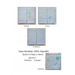 ESTUCHE GASA BORDADA 45X45 CM 2 UNID
