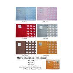 ESTUCHE SET MANTAS LIVIANAS 90X75 2 UNID 191005446
